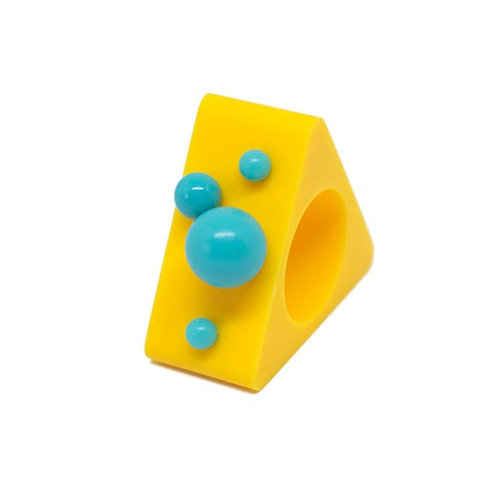 Dot Ring - Yellow/Blue Triangle