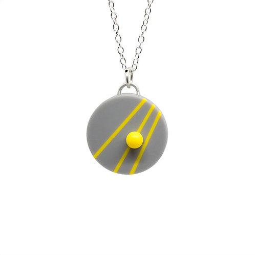 Dot Dash Pendant Grey/Yellow