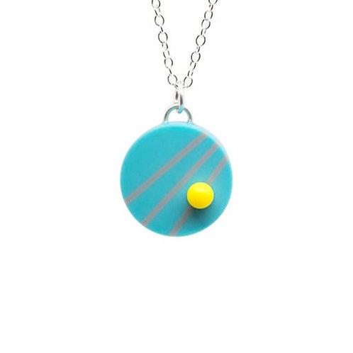Dot Dash Pendant Blue/Grey/Yellow