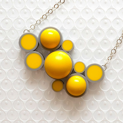Push It Feel Good Necklace Grey/Yellow