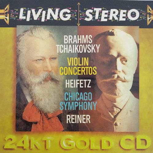 Brahms/ Tchaikovsky- Heifetz, Chicago Symphony, Reiner– Violin Concerto(24K金碟)