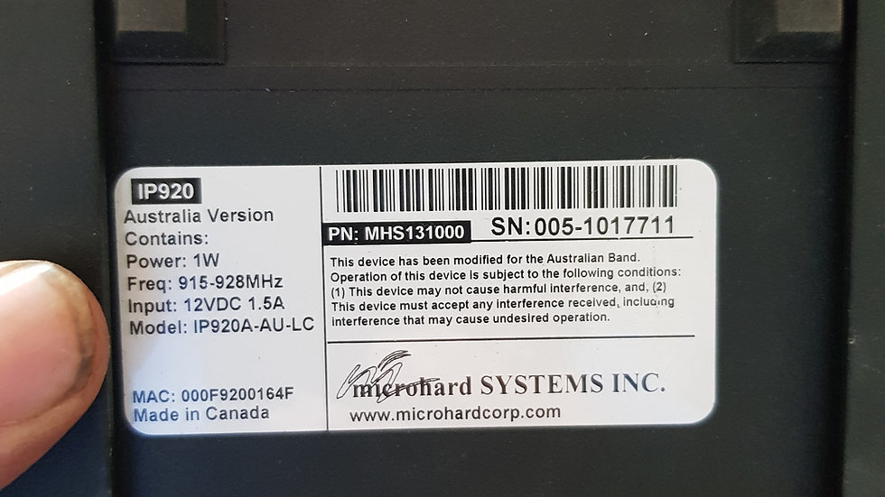 Microhard 900mhz modem