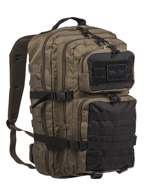 MIL-TEC US ASSAULT PACK LG RANGE GREEN/BLACK 36lt-14002202