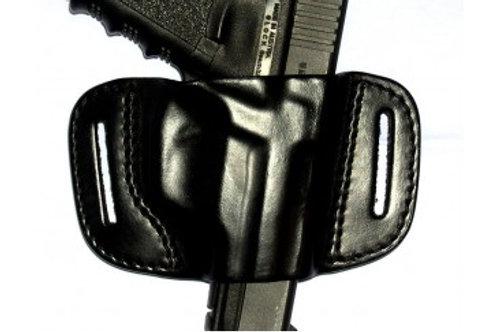 Vega FB1 – Belt leather holster uncovered full barrel Black.