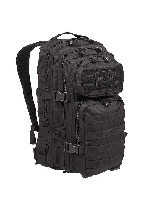 MIL-TEC BLACK BACKPACK US ASSAULT SMALL 20lt-14002002