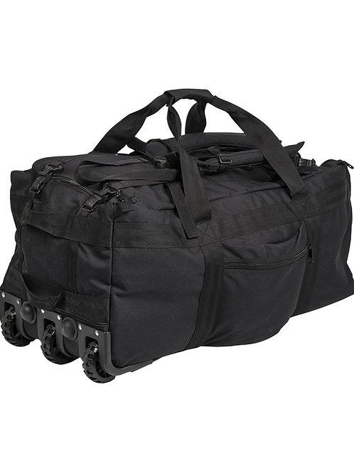 MIL-TEC COMBAT DUFFLE BAG WITH WHEEL BLACK-13854002