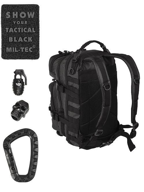 MIL-TEC TACTICAL BLACK BACKPACK US ASSAULT SMALL 20lt-14002088