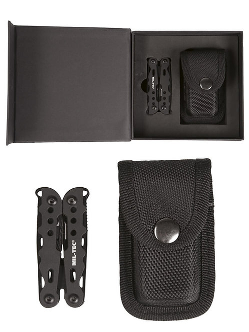MIL-TEC BLACK MULTI TOOL SMALL WITH CASE-15406100