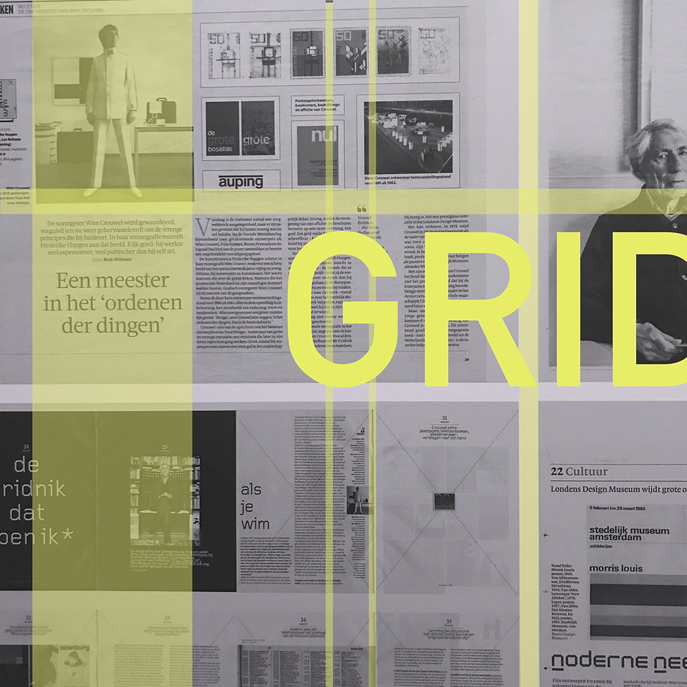 "Wim Crouwel set the foundation for grid-based layout | Background image from ""Mr. Gridnik"" exhibition at the @stedelijkmuseum Amsterdam"