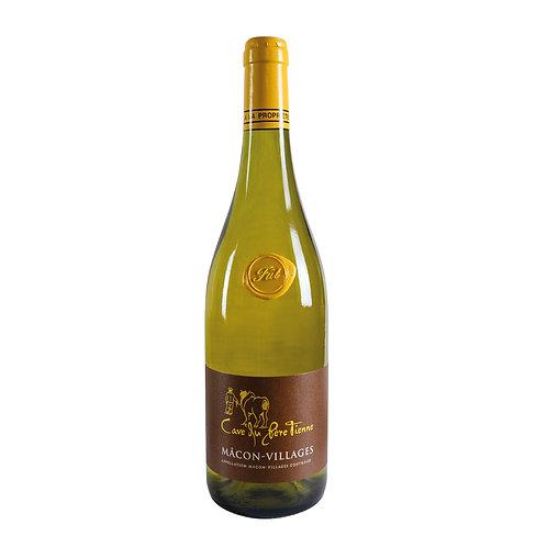 Mâcon Villages Blanc élevé en fût 2017 -  Carton de 6 bouteilles 750mL