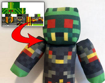 Custom Minecraft Plush Toy Using Any Player