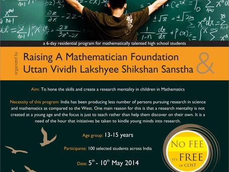Raising A Mathematician flyer