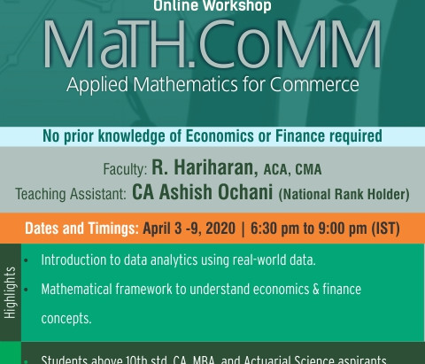 Report on 7-day online workshop | MaTH.CoMM