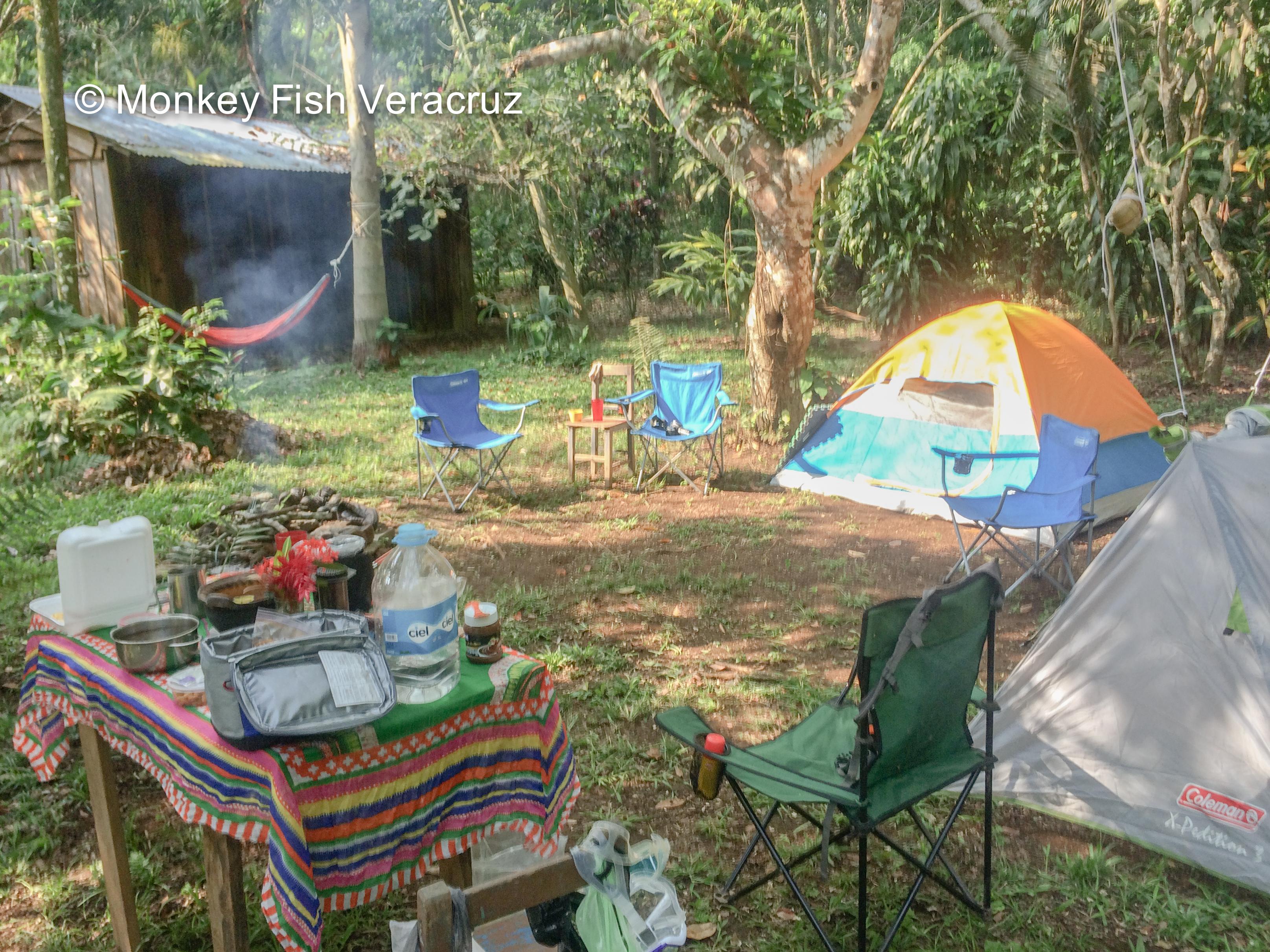 Camping, Los Tuxtlas, Veracruz