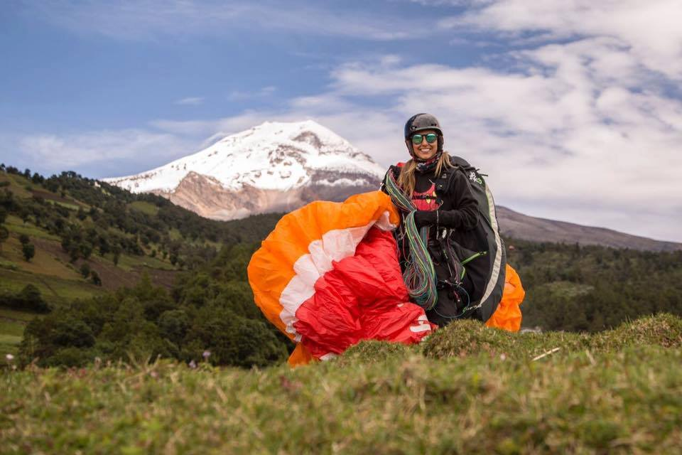 Parapente Pico de Orizaba, cara Este