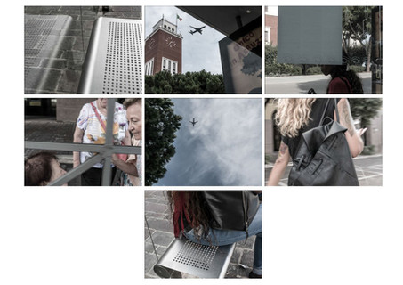 Sequenza filmica di Street Photography ad una fermata di autobus di Pescara