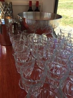 Vintage Wine Glass