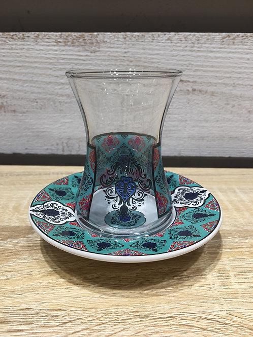 チャイグラス(陶器皿)/ No.1