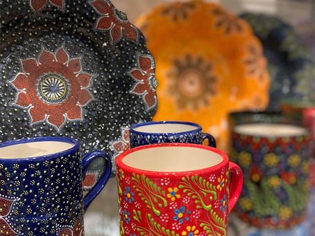 新作!手描き陶器。