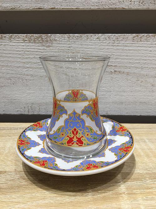 チャイグラス(陶器皿)/No.4