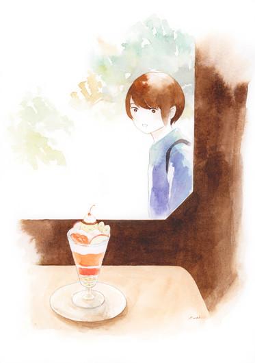 画材メーカー/公開制作 喫茶と出会い
