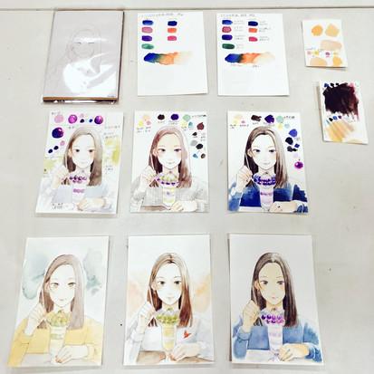 文房堂講座/塗り絵体験
