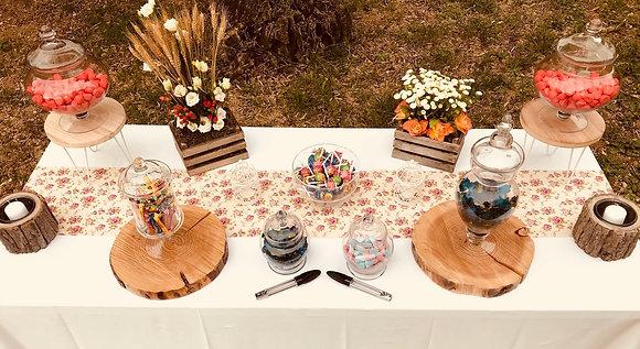 Kit bonbonnières candy bar champêtre