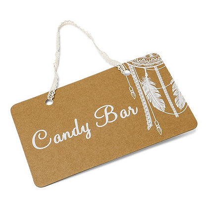 Pancarte Candy Bar Bohème