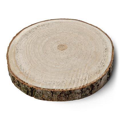 Rondin de bois rustique plat 25cm