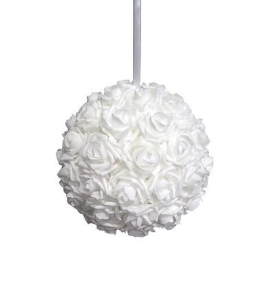 Boule de roses blanches
