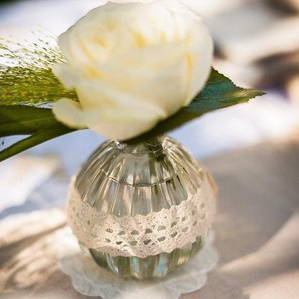 Vase en verre d'antan bohème