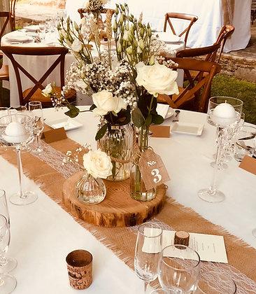 Centre de table champêtre et raffiné