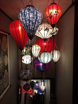 Lanternes asiatiques en soie