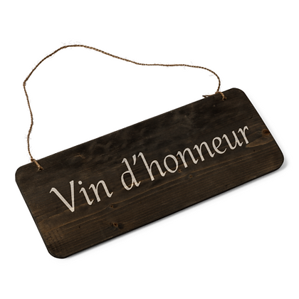 Panneau vin d'honneur vintage bois