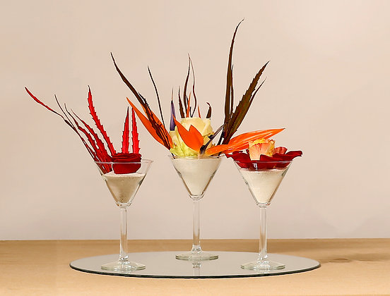 Trio de mini vases martini