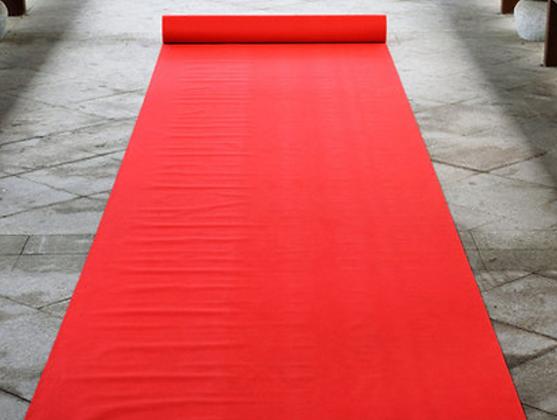Tapis de cérémonie rouge