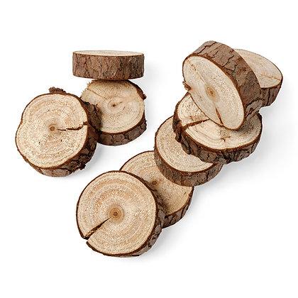 Mini rondin de bois rond porte couverts