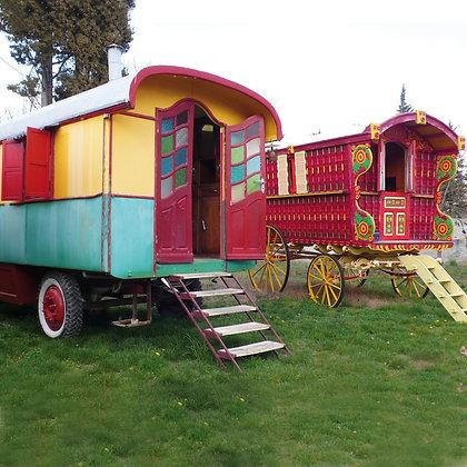 Location de roulotte mariage gypsy boho bohème
