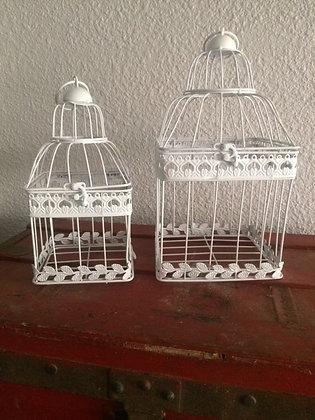 Cage à oiseaux carré blanche