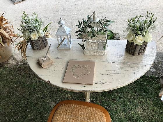 Table demi lune vintage rétro