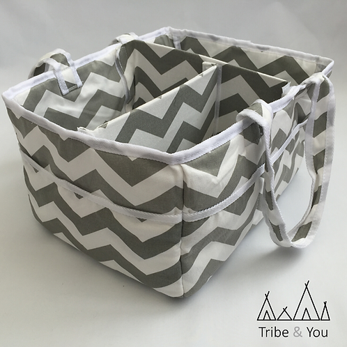 Portable Nappy Caddy/Organiser with Changeable Compartment
