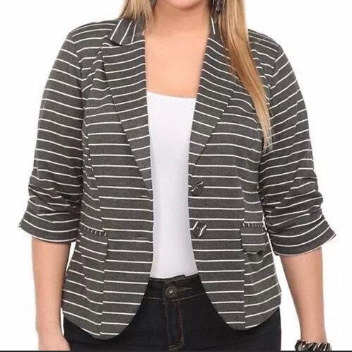 Torrid Black and Metallic Striped Jacket