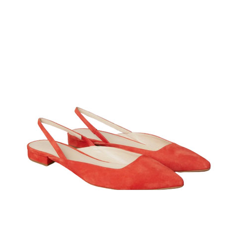 "Everlane ""The Editor"" Persimmon Slingback Flat"