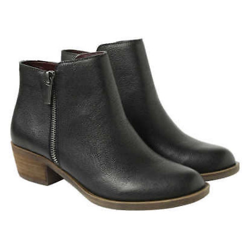 Kensie Ghita Black Leather Ankle Boot
