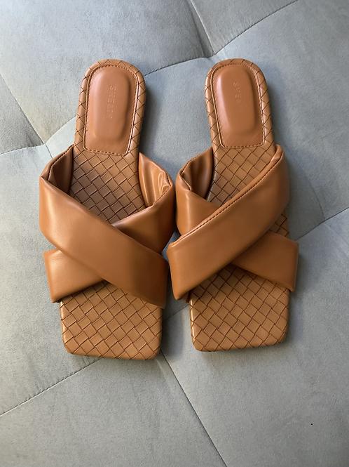 Cris Cross Slide On Sandals
