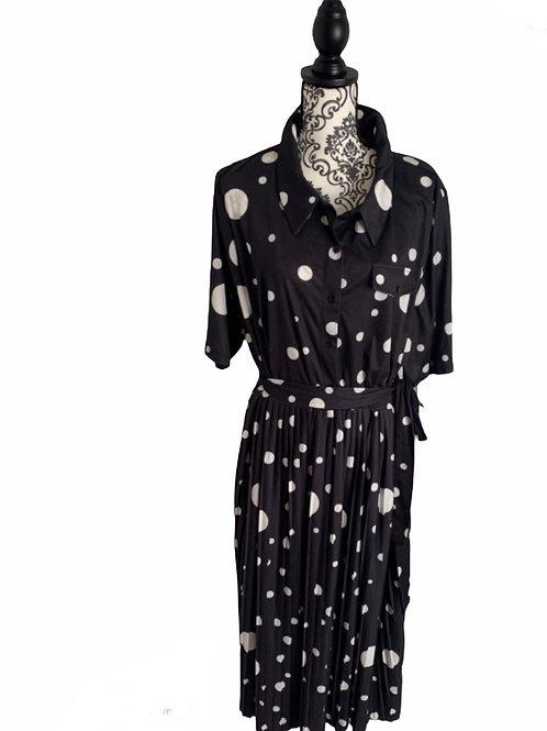ASOS Polka Dot Pleated Dress