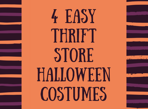 4 EASY  Thrift Store Halloween  Costumes