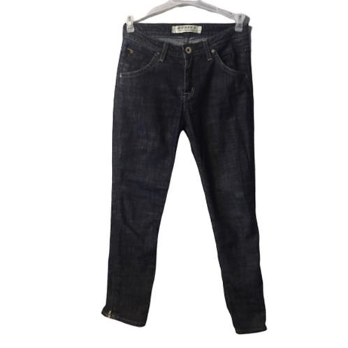 Hudson Dark Wash Raw Skinny Jean w/Ankle Zipper