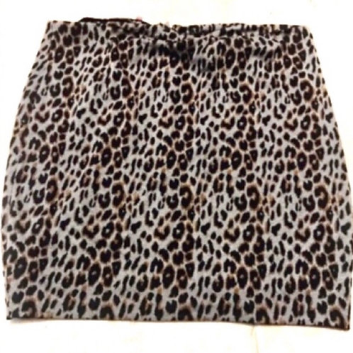 Simply Be Plus Leopard Skirt