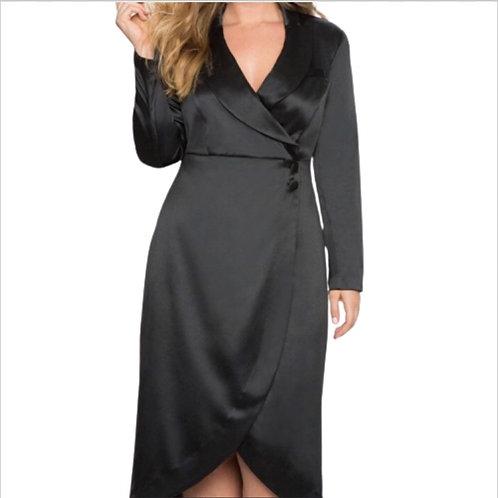 Eloquii Black Tuxedo Dress